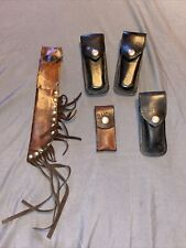 lot of 5 assorted knife leather sheath pouch holster 110 112 Buck