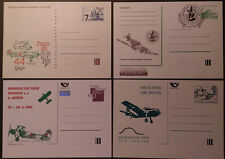 CZECH REPUBLIC 1988/93/95/01, LOT OF 4 AIRPLANES POSTAL CARDS