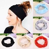 Yoga Sports Wide Elastic Headband Boho Hair Band Head Wrap Wristband Women/Men