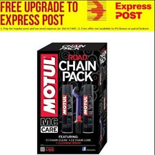Motul Motorbike Racing Road Bike Chain Lube Cleaner Brush 3 Motorcycle Care Pack