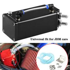 Car Billet Square Aluminum Engine Oil Catch Tank Can Reservoir Breather Tool Kit