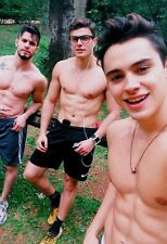 Shirtless Male Athletic Frat Guy Jocks in Shorts Abs Cute Guys PHOTO 4X6 C8