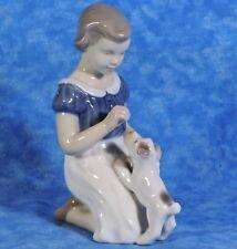 Vtg. Bing & Grondahl B&G Porcelain Figurine GIRL WITH PUPPY  #2316, Minty!