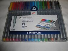 "Staedtler Triplus Fineliner 0.3 mm 20 Colors Porous Point Pens ""BRAND NEW"""