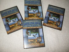 Set 4 dvds:National Wildlife Federation Wildlife in Peril-Dolphins,Wolves,Eagles