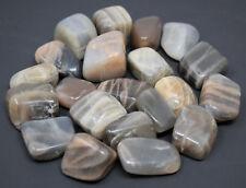 "1 Single BLACK Moonstone Tumbled Stone (3/4"" - 1""), Crystal Healing Reiki Tumble"
