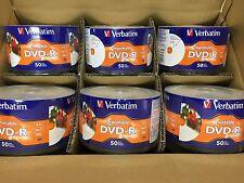 600 VERBATIM Blank DVD-R 16X 4.7GB White Inkjet Hub Printable FREE EXPEDITED