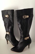Vince Camuto Oboy Black Fashion Knee High Leather Boots 6