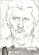 Dr Doctor Who Big Screen Additions Mono Sketch Card by Sarah Lyons /3