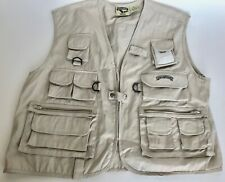 Field & Stream Fishing Vest Men's 2XL New Cotton Khaki Chest 52""