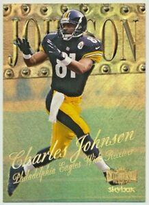 1999 Metal Universe Precious Metal Gems Charles Johnson 40/50 Steelers PMG