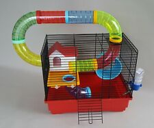 Hamster Cage with Accessories House Tubes Wheel Water Bottle Mouse Gerbil Pet