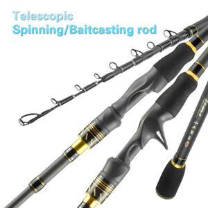 Carbon Medium Heavy Telescopic Travel Spinning Rod Baitcasting Rod Bass Fishing
