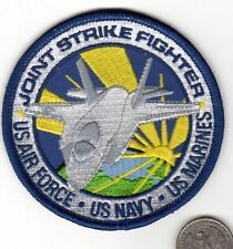 US AIR FORCE US Navy US Marines Patch Joint Strike Fighter Jet