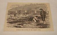 1885 magazine engraving ~ BURNING OUTSIDE OF COMMON WOOD, Spain