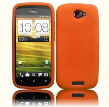 For T Mobile HTC ONE S  Rubber Silicone Gel SKIN Phone Case Cover Orange