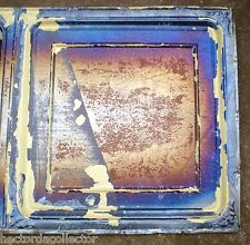 "Sale Antique Iridescent 24"" Ceiling Tin Tile Carnival Canvas Elegant Chic Frame"