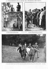 ARTICOLO 1924 RITROVAMENTO DELLA SALMA DI G. MATTEOTTI RIANO FLAMINIO OMICIDIO