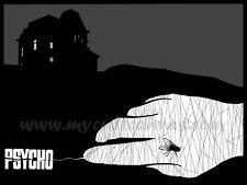 Original Psycho Art Print Poster Alfred Hitchcock Vertigo Horror Bates Motel