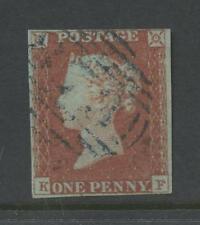 PENNY RED IMPERF Pl.86 KF 4 MARGINS BLUE NUMERAL cv£180