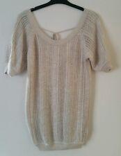 Miss Selfridge cardigan 10 angora cream women's knitted top MINT