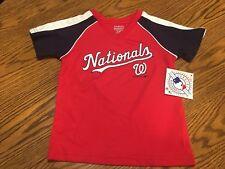 612fbec344b Washington Nationals MLB Toddler Boys Red Jersey Shirt Size 4t -