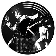 Elvis Presley Vinyl Wall Art Clock Music Bands Musicians Themed Souvenir Decor
