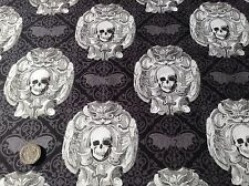 Michael Miller Gotico Teschi Halloween pipistrelli COTONE Quilting Fabric FQ 50cmX 54cm