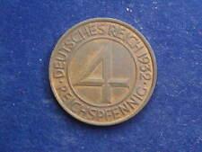 """4 Reichspfennig 1932 A Berlin Weimarer Republik """" Erhaltung """" W/18/217"""