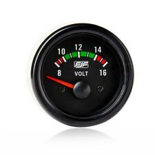 """Brand New 2"""" 52mm Black Car Smoke Tinted 8-16V Volt  Gauges Meters Voltages"""