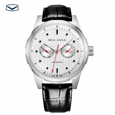 Seagull 50M Water Resistance Luminous Hands Day Date Automatic Watch White Dial