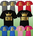 Couple Shirt King and Queen Matching Couple Clothes T-Shirts His Hers T-Shirts