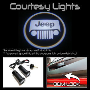 Lumenz CL3 LED Courtesy Logo Lights Ghost Shadow for Jeep 100541 White