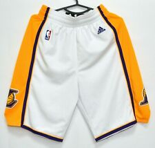 NBA LOS ANGELES LAKERS BASKETBALL SHORTS ADIDAS SIZE S ADULT