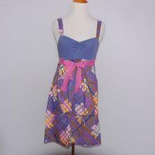 aaa483b0f6 Anthropologie Eloise Purple Pink Orange Floral Plaid Print Size XS Chemise