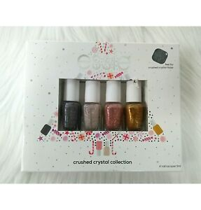 Essie Nail Lacquer Crushed Crystal Collection Sparkle Set of 4 Gift Boxed  L1