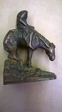Antique Bronze Clad American Indian BOOK END end of the trail headless horseman