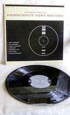 Cbs Laboratories 1962 Stereophonic Frequency Test Record Original Lp Gate-fold
