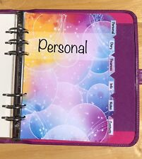 Filofax A5 Organiser Planner - Bubble Design Labelled Dividers - Fully Laminated
