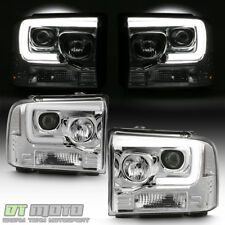 2005 2006 2007 Ford F250 F350 F450 LED Light Tube Projector Headlights Headlamps