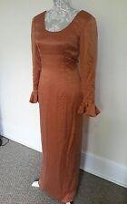 LADIES VINTAGE 60s TUDOR STYLE DRESS BACK BUTTON FASTENING UNIQUE SIZE 10
