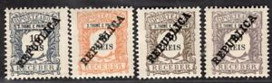 ST. THOMAS & PRINCE PORTUGAL 1913 POSTAGE DUE STAMP Sc. # J32/3, J35 AND J40 MNH