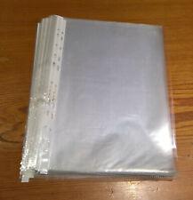 glasklar DIN A4 A5 A3 weichmacherfrei Prospekthüllen Klarsichthüllen genarbt