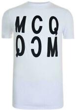 McQ Alexander McQueen XXLarge White BOLD MCQ Velvet Logo T-Shirt, BNWT