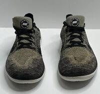 Nike Free RN Flyknit Running 942838-101 Black Gray White Men's Sz 13