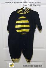 Bumblebee Halloween Costume Hoodie w/Wings Black Yellow Infants 6-12 Months MINT