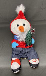 "Rare Gemmy Snowman Animated Dancing Vanilla Ice Ice Baby Musical Christmas 8"""