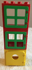 Lego Duplo Red, Yellow and Green Window Set and Door