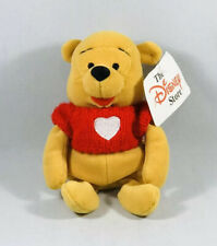 Winnie the Pooh in Red Knit Jumper with Heart Soft Toy Beanie