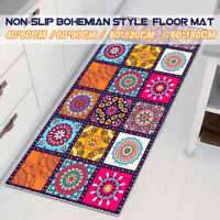 Non-Slip Floor Rugs Bohemian Kitchen Home Door  Mat Area Hallway Runner Carpet